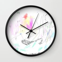 abstract whale Wall Clock