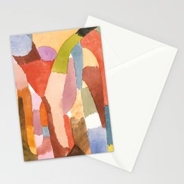 """Paul Klee """"Movement of Vaulted Chambers 1915"""" Stationery Cards"""