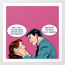 Book Boyfriend Pop Art Art Print