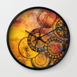 Mandala Be Grateful Wall Clock