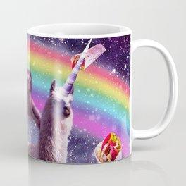Sloth Riding Llama Coffee Mug