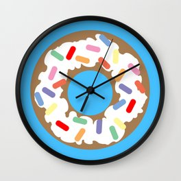 DONUT - VECTOR GRAPHIC Wall Clock