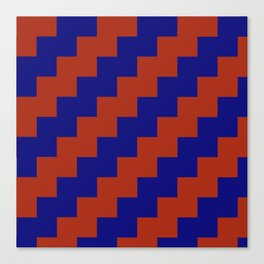 Red and Blue Zig Zags Canvas Print