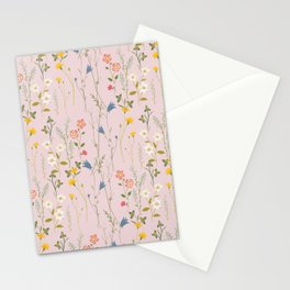 Dreamy Floral Pattern Stationery Cards