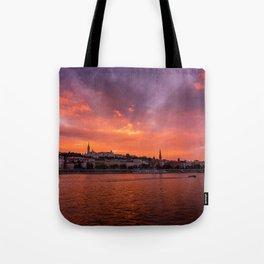 Budapest sunset Tote Bag