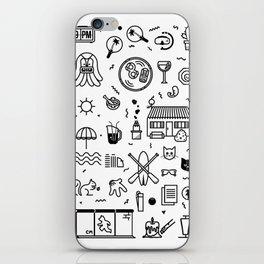 Summer Vectors iPhone Skin