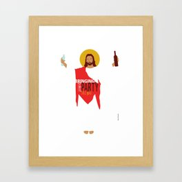 Party Jesus Turns Water Into Wine Framed Art Print