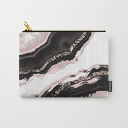 Agate Glitter Glam #4 #gem #decor #art #society6 Carry-All Pouch