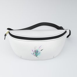 Polygonal Feather with Watercolor Fanny Pack