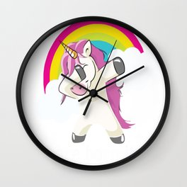 unicorns are born in July Wall Clock