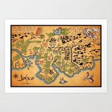 Johto Map Art Print