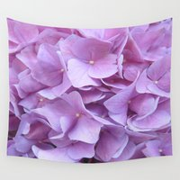 hydrangea Wall Tapestries featuring Hydrangea by lillianhibiscus