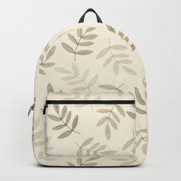 Vintage white gray black pastel color leaves pattern Backpack