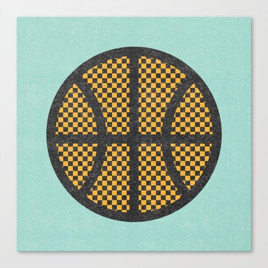 Op Art Basketball. Canvas Print