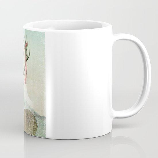 hold deer, tsunami Mug