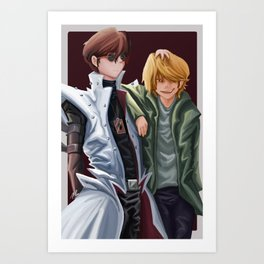 Jounouchi and Kaiba Art Print