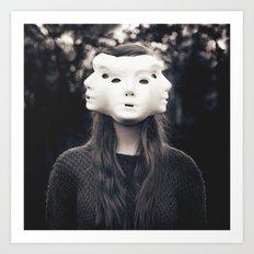 Three Faced Art Print