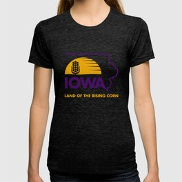 Iowa: Land of the Rising Corn - Purple and Gold Edition T-shirt
