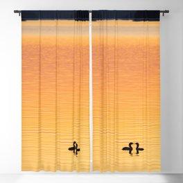 Summer Evening by The Lake at Sunset #decor #society6 #buyart Blackout Curtain