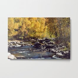 Eagle River in Avon Colorado Metal Print