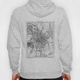 Vintage Map of Hanover Germany (1895) BW Hoody