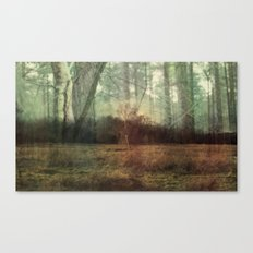 WOOD FOR THE TREES DOUBLE EXPOSURE  Canvas Print