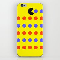pacman iPhone & iPod Skins featuring Pacman by awesomephant