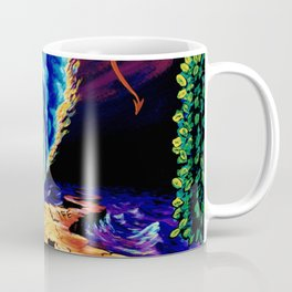 Trippy Psychedelic Surreal Visionary Art by Vincent Monaco - Strength Coffee Mug