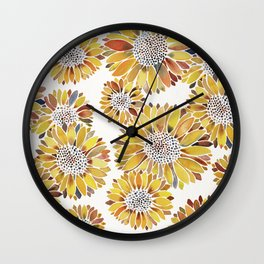 Sunflower Blooms – Yellow Wall Clock