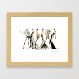 Black|Light Framed Art Print