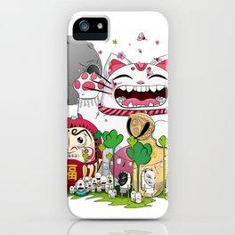 Maneki-neko in the magical world iPhone Case