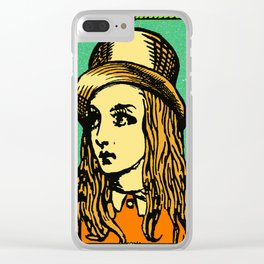 Retro Alice Clear iPhone Case