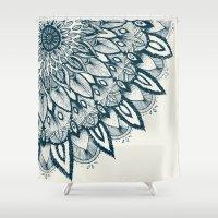 mandala Shower Curtains featuring Mandala by Rskinner1122