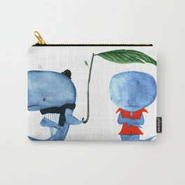 Adorable Whales - PAINTED Carry-All Pouch