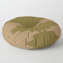Southwestern Minimalist Retro Green & Pink Floor Pillow