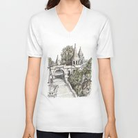 budapest V-neck T-shirts featuring Budapest Art by Daria Kotyk