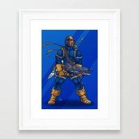 deathstroke Framed Art Prints featuring Deathstroke by Levi Cleeman