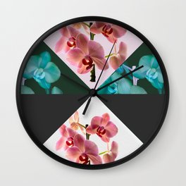 orchid patterns Wall Clock