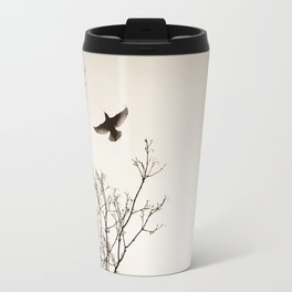 Bird Flying Tree Photography, Brown Nature Branches, Birds Fly Trees Travel Mug