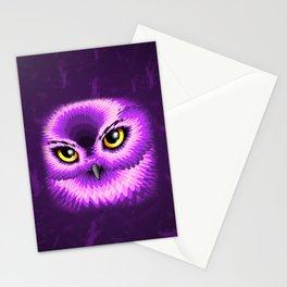 Pink Owl Eyes Stationery Cards