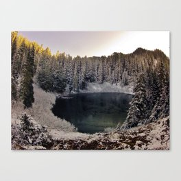 Wagonwheel Lake Frozen Canvas Print