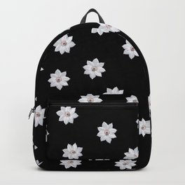 White Flowers Backpack
