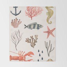 Sealife Schoolchart Throw Blanket