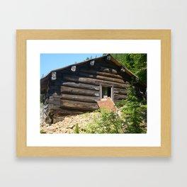 A part of history, Idaho gold mine shack Framed Art Print