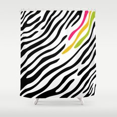 Zebra print. Multicolor Shower Curtain