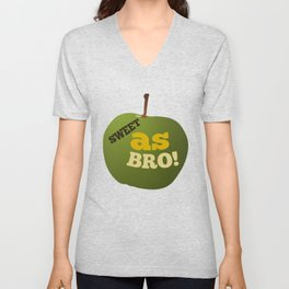 Green apple SWEET AS BRO Unisex V-Neck