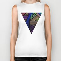 the strokes Biker Tanks featuring Brush Strokes by Lyle Hatch
