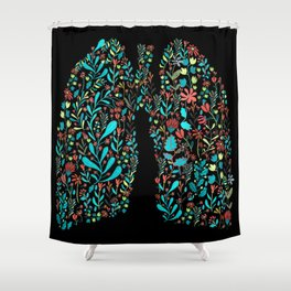 lung life Shower Curtain