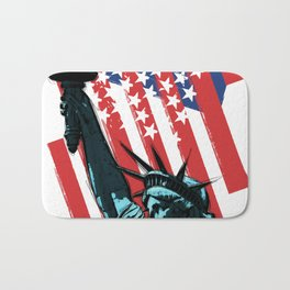 Stars, stripes and Liberty Bath Mat