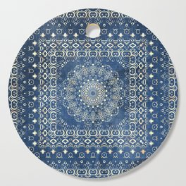 Old Bookshop Magic Mandala in Blue Cutting Board
